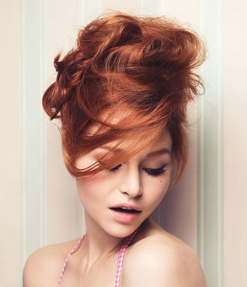 #1 - Sexy Beehive Updo Hairstyle for Parties