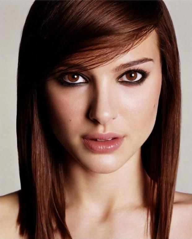 #15 - Medium Straight Side Swept Hairstyle