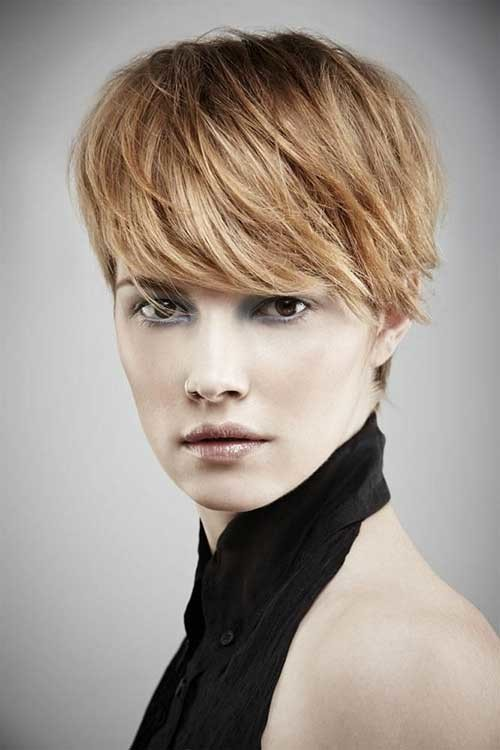 #20 - Long Layered Pixie Haircut