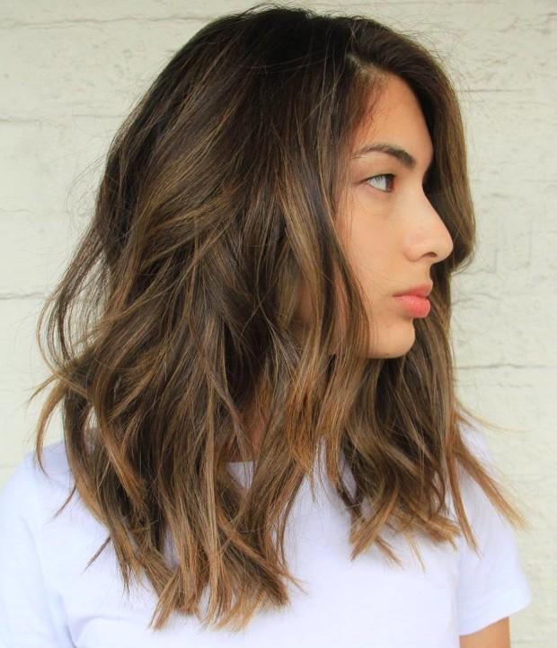#4 - Medium Haircut with Sexy Highlights
