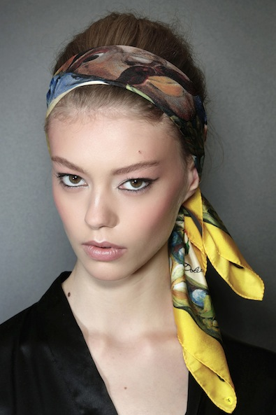 #9 - Retro Scarf Updo Hairstyle 2