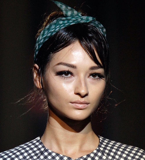 #9 - Retro Scarf Updo Hairstyle