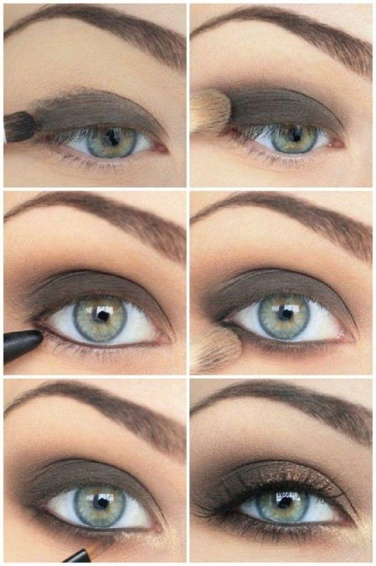 Как правильно наносить макияж на глаза цветом серые