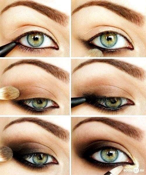 Smokey eye makeup tutorial for green eyes