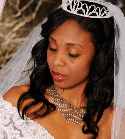 Stylish Makeup for Black girls wedding