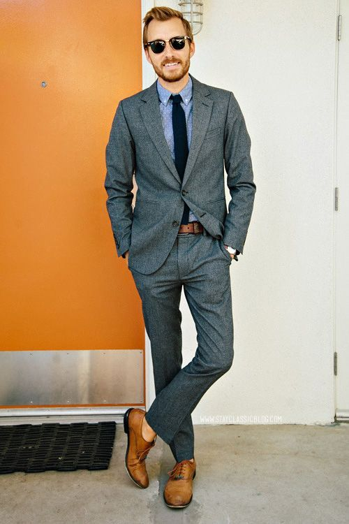 What shirt to wear with charcoal suit