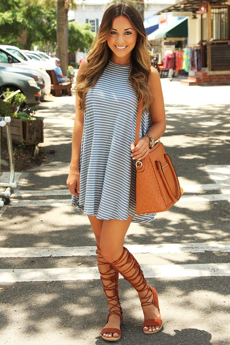45e9b3f04d3 16 Cute Outfits To Wear With Gladiator Heels Sandals This Season ...