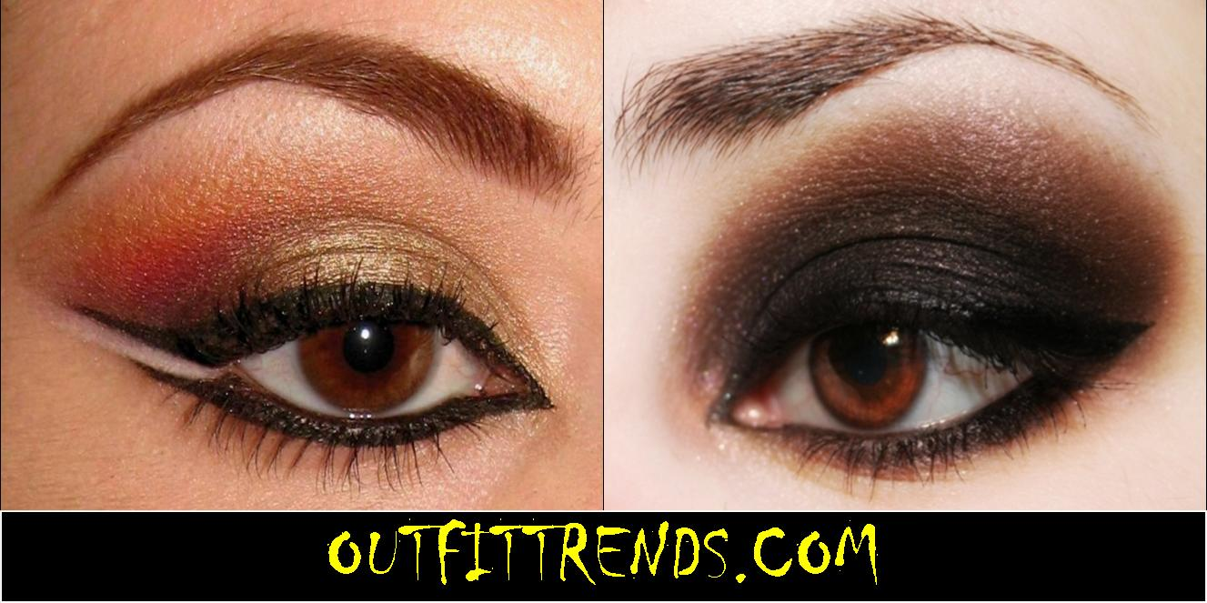 Eye makeup for brown eyes tutorials