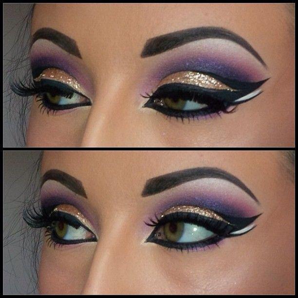 stylish makeup arabian girls