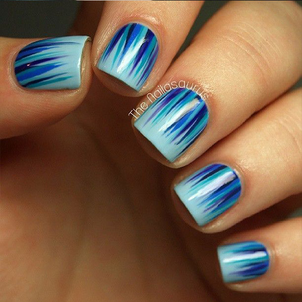 15 Must Try Blue Manicures For Summer - Cheap Casual Dress Fashion ...