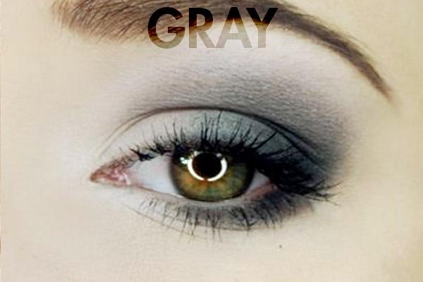 gray eye makeup for hazel eyes ...