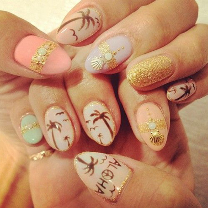 14 Nail Art Ideas You Need To Try This Summer Cheap Casual Dress