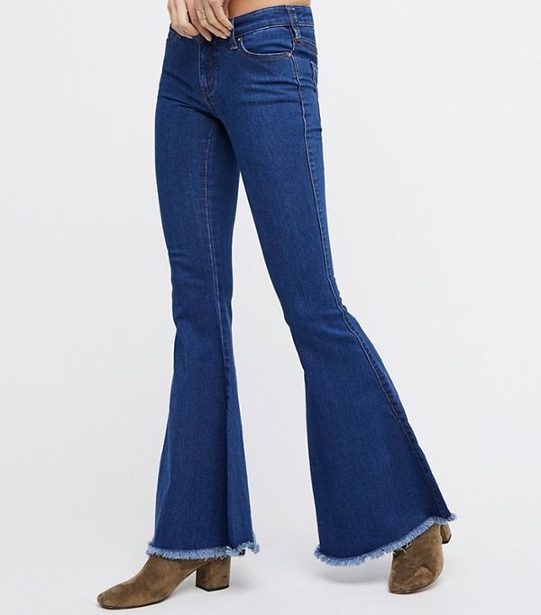 denim flare jean - Free People Denim Super Flare