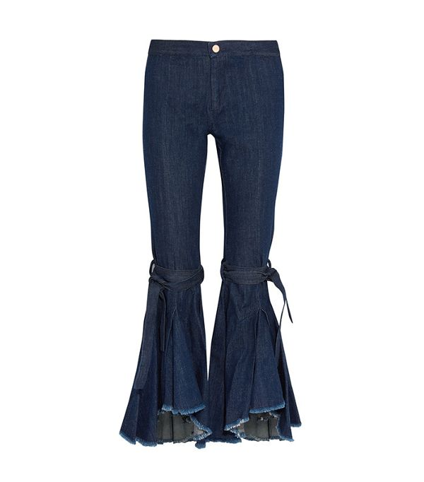 frayed high rise jeans - Maggie Marilyn Firm In Her Beliefs Frayed High Rise Jeans