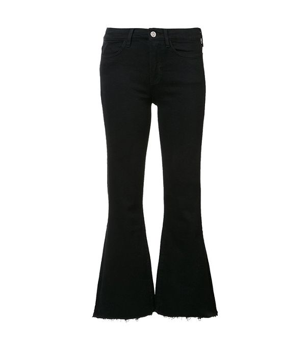 black flared jeans - M.i.h Jeans Cropped Flared Jeans