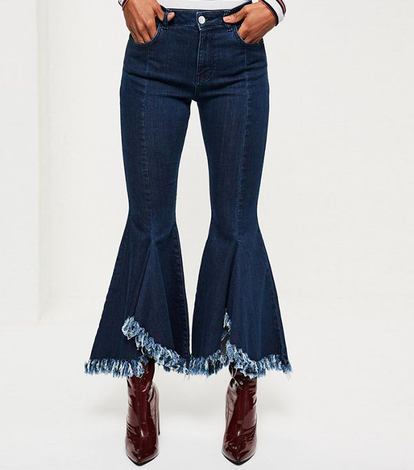 flare skinny jeans - Missguided Extreme Flare Skinny Jeans