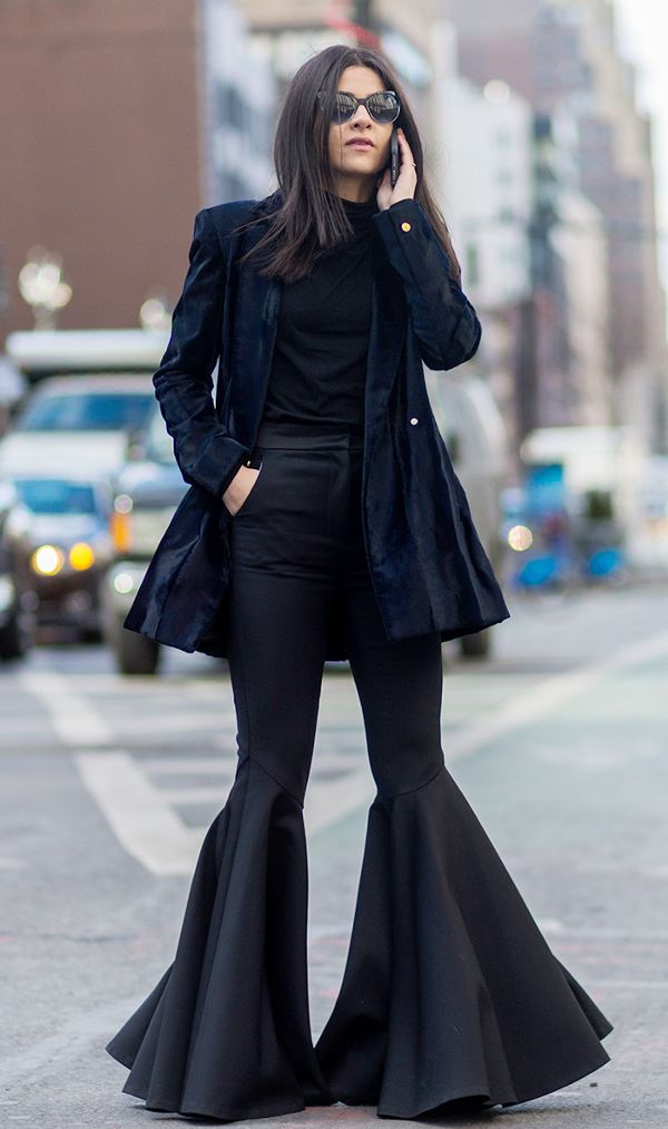 how to style flared jeans—Lainy Hedaya
