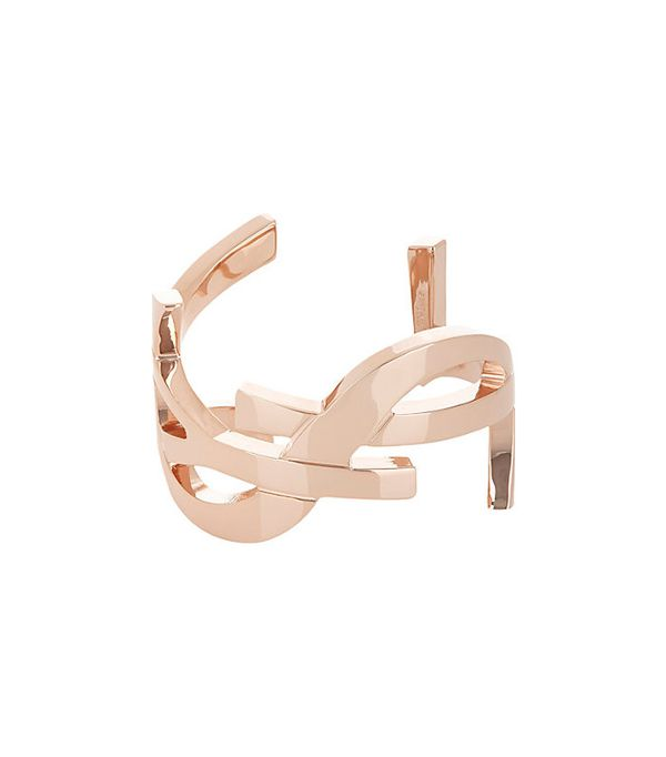best rose-gold jewelry—Saint Laurent Monogram Cuff