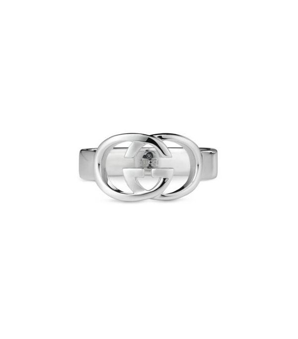 silver bracelet—Gucci Thin Band With Interlocking G Motif