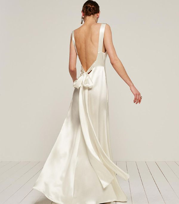 Affordable Beach Wedding Dresses   Reformation Eliana Dress