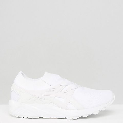 Knit Gel-Kayano Sneakers in White