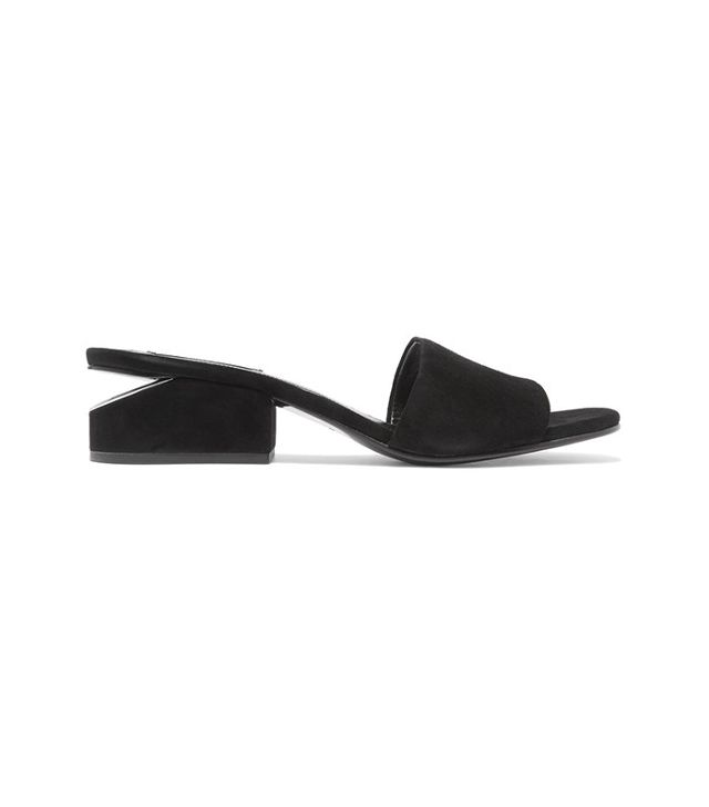 French girl wardrobe - Alexander Wang Lou Suede Mules