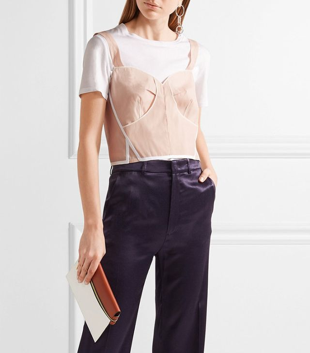 French girl wardrobe - Calvin Klein Collection Lemar Bustier Top
