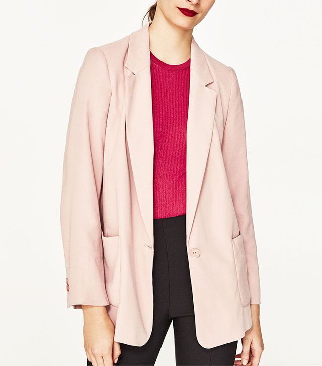 French girl wardrobe - Zara Flowing Blazer