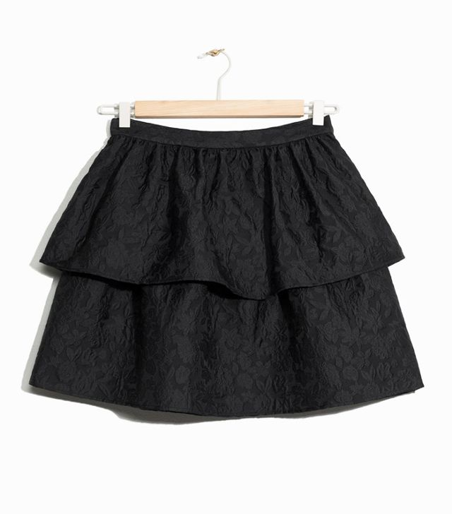 & Other Stories Jacquard Ruffle Skirt