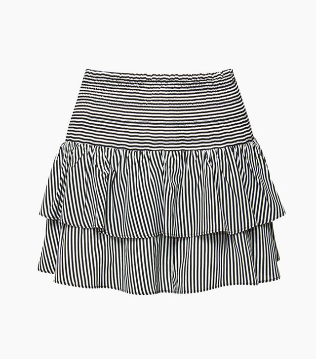 Anine Bing Striped Silk Skirt