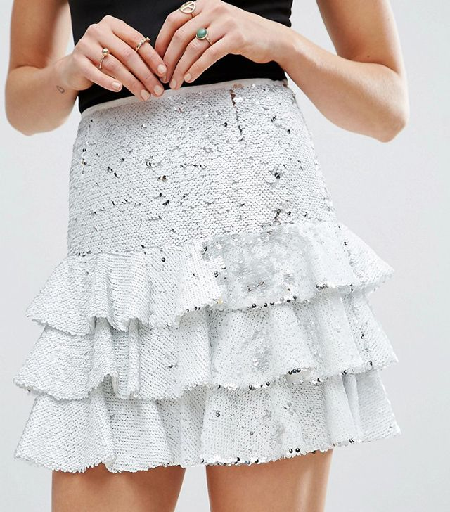 ASOS Sequin Rara Mini Skirt