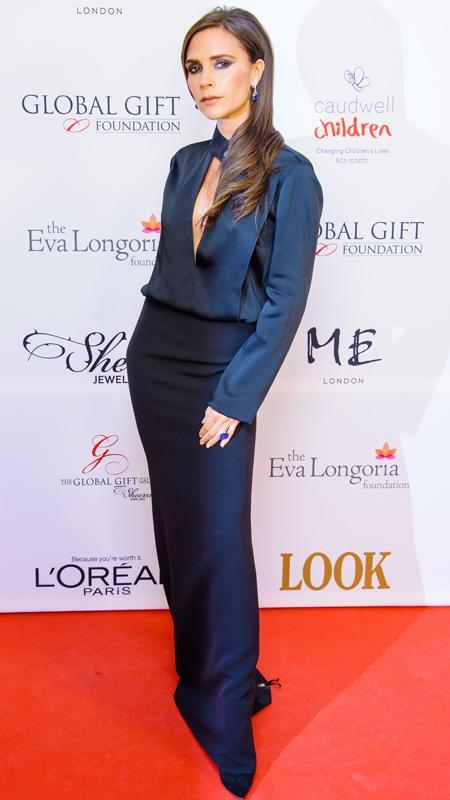 Victoria Beckham attending the London Global Gift Gala