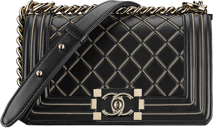 57ab7f5a0300 Chanel-Métiers-d Art-2016-17-Paris-Cosmopolite-. Small Boy Chanel Chain  Quilted Bag