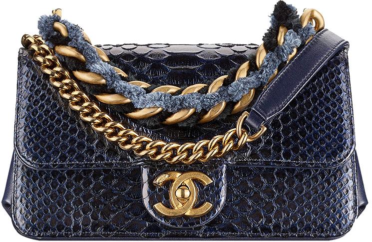 f5b2ca6096c4 Chanel-Métiers-d Art-2016-17-Paris-Cosmopolite-. Chanel Python Straight  Lined Flap Bag