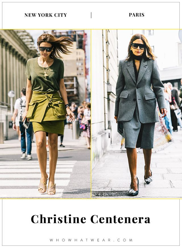 Christine Centenera NYFW and PFW Street Style