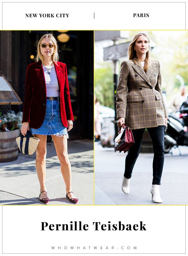 Pernille Teisbaek NYFW and PFW Street Style