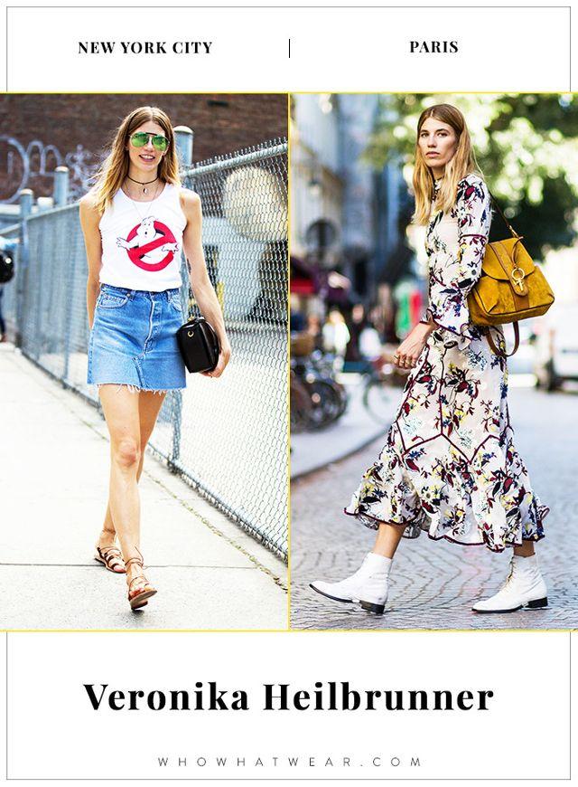 Veronika Heilbrunner NYFW and PFW Street Style