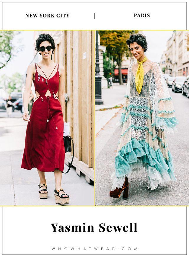 Yasmin Sewell NYFW and PFW Street Style