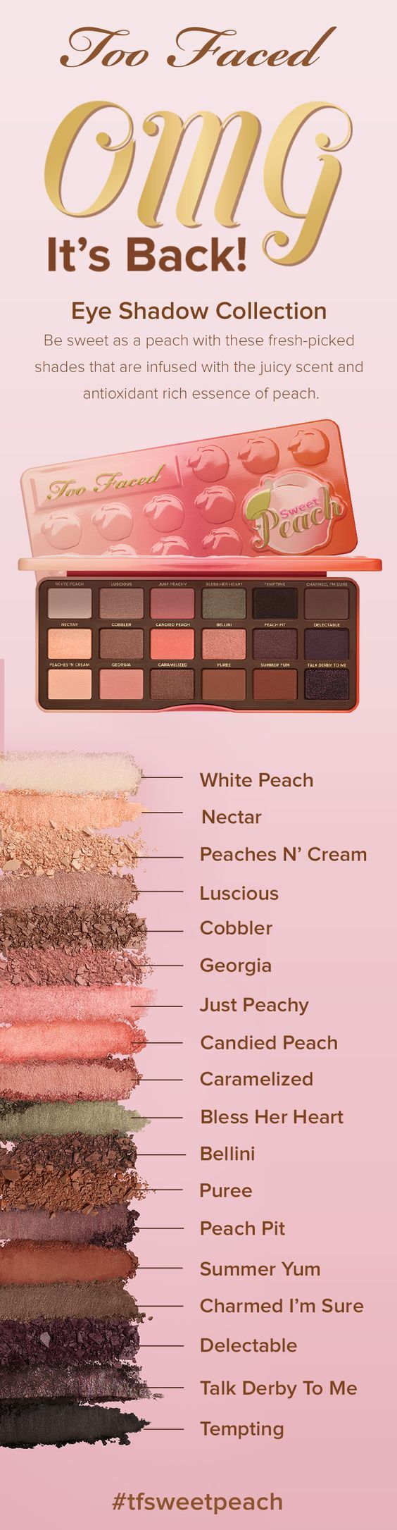The Too Faced Sweet Peach Palette is one of the best eyeshadow palettes!