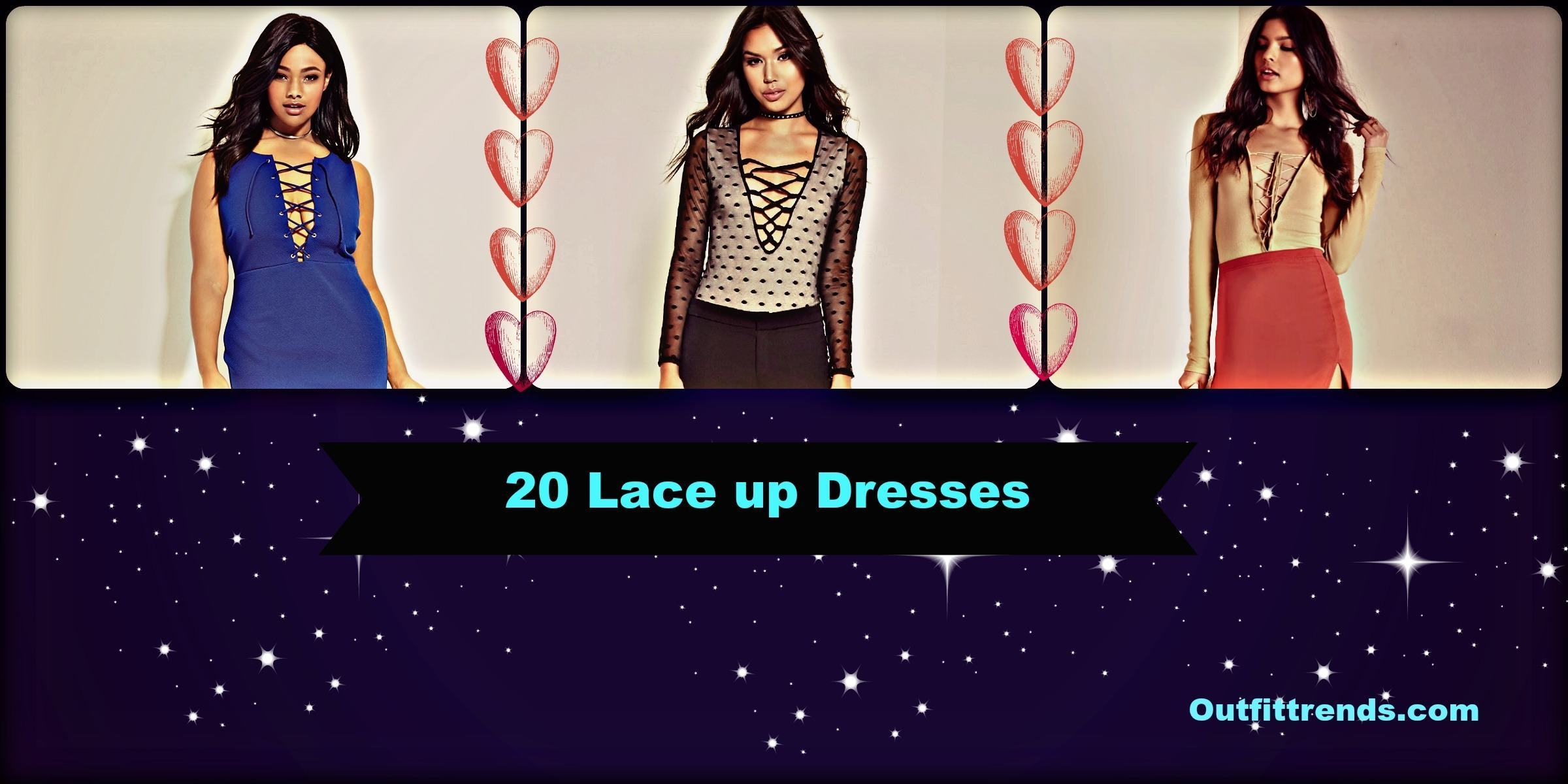 326f1a485e5c 20 Cute Lace up Dresses That are Trending These Days - Cheap Casual ...