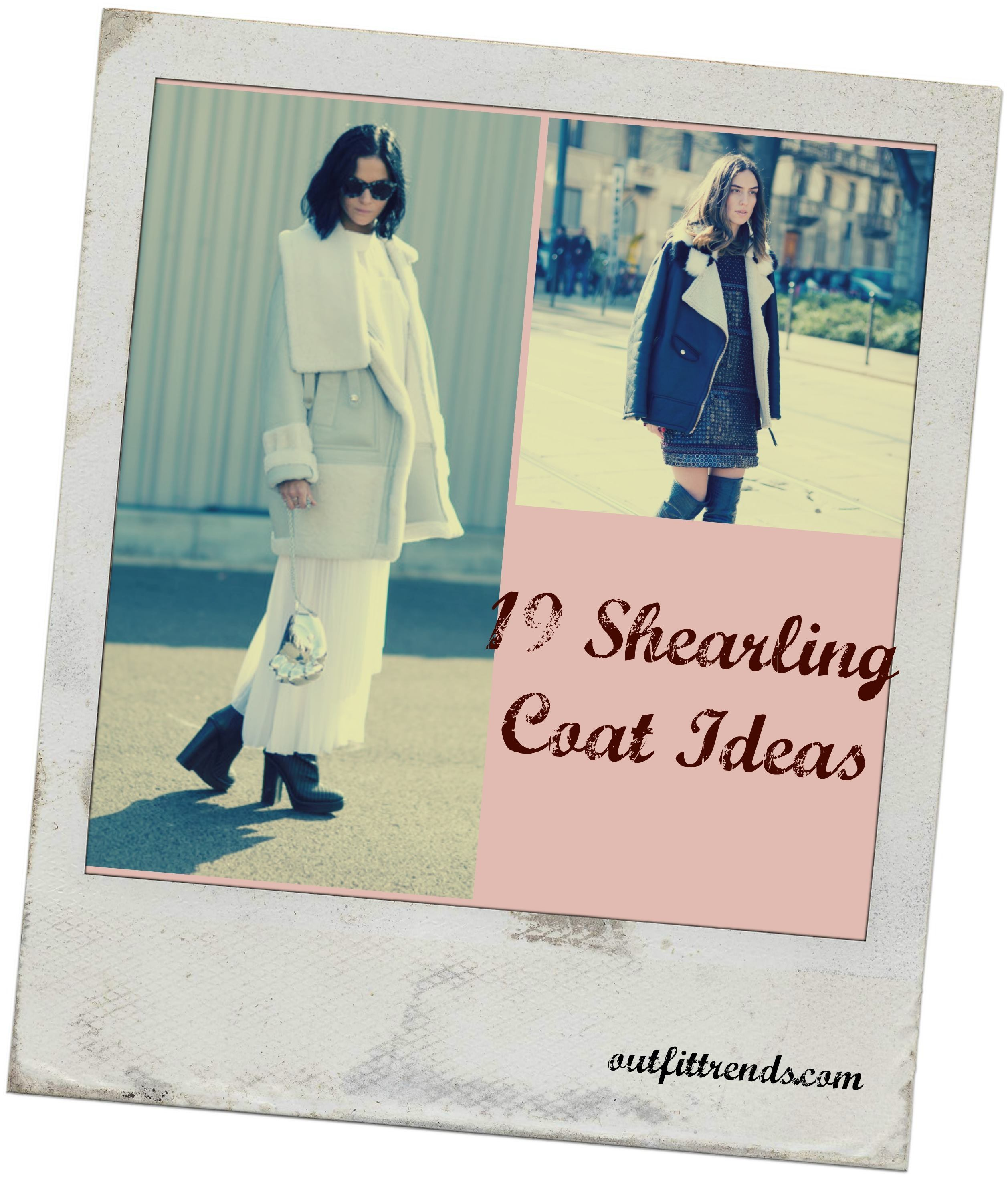 Women Outfits with Shearling Coats-19 Ways to Wear Stylishly pics
