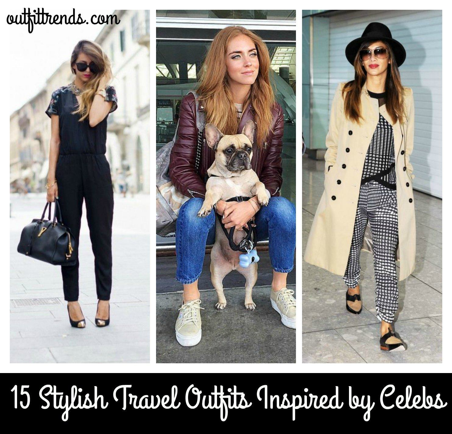 Women's Outfits for Airport-15 Ways to Travel Like Celebrity