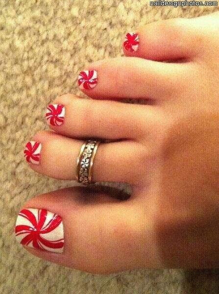 Fancy toe nailart