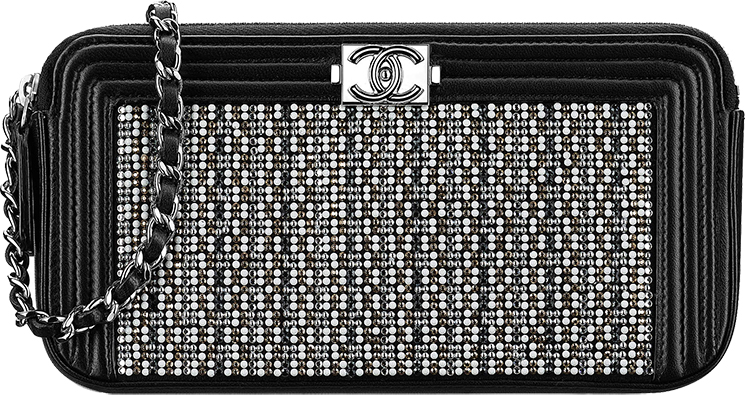 Boy Chanel Strass Small Clutch with Chain