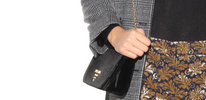 Cute and Chic Prada Velvet Shoulder Bag