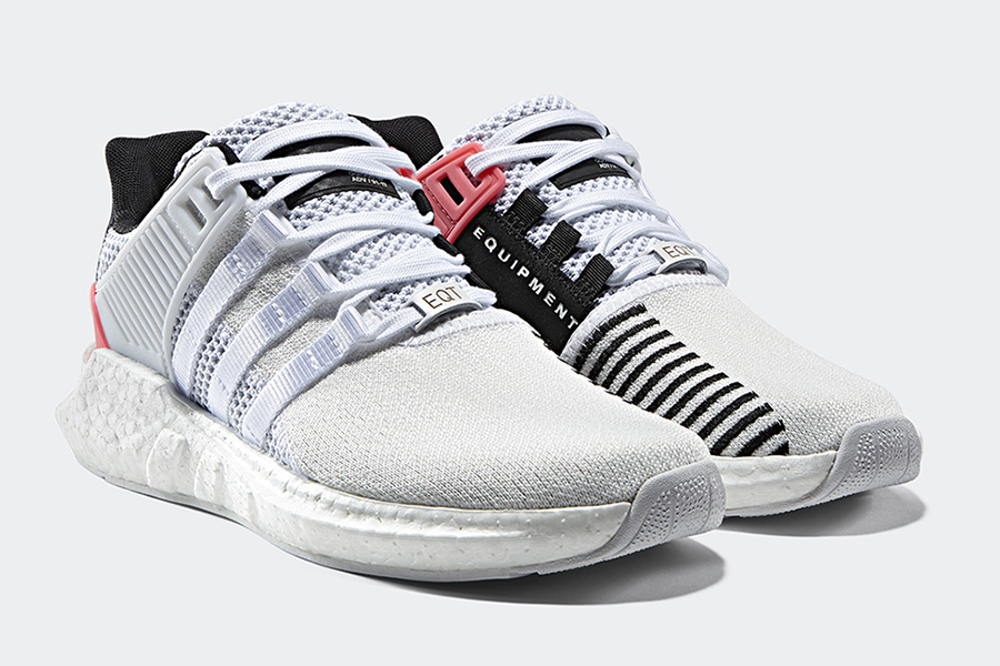 Visible technical features include TPU ankle supports – with added touches of this season's new color, EQT Turbo Red – plus external heel cages, and the webbed 3-stripes lacing system. Under the hood, the shoe offers comfort via an OrthoLite® insole and BOOST midsole. The EQT Support 93/17 will drop on March 23 at adidas Originals flagship stores, online at adidas Originals, and select retailers with a EUR 179.95 price tag. Also make sure to check out our primer on what adidas Equipment has in store for 2017 – and beyond.