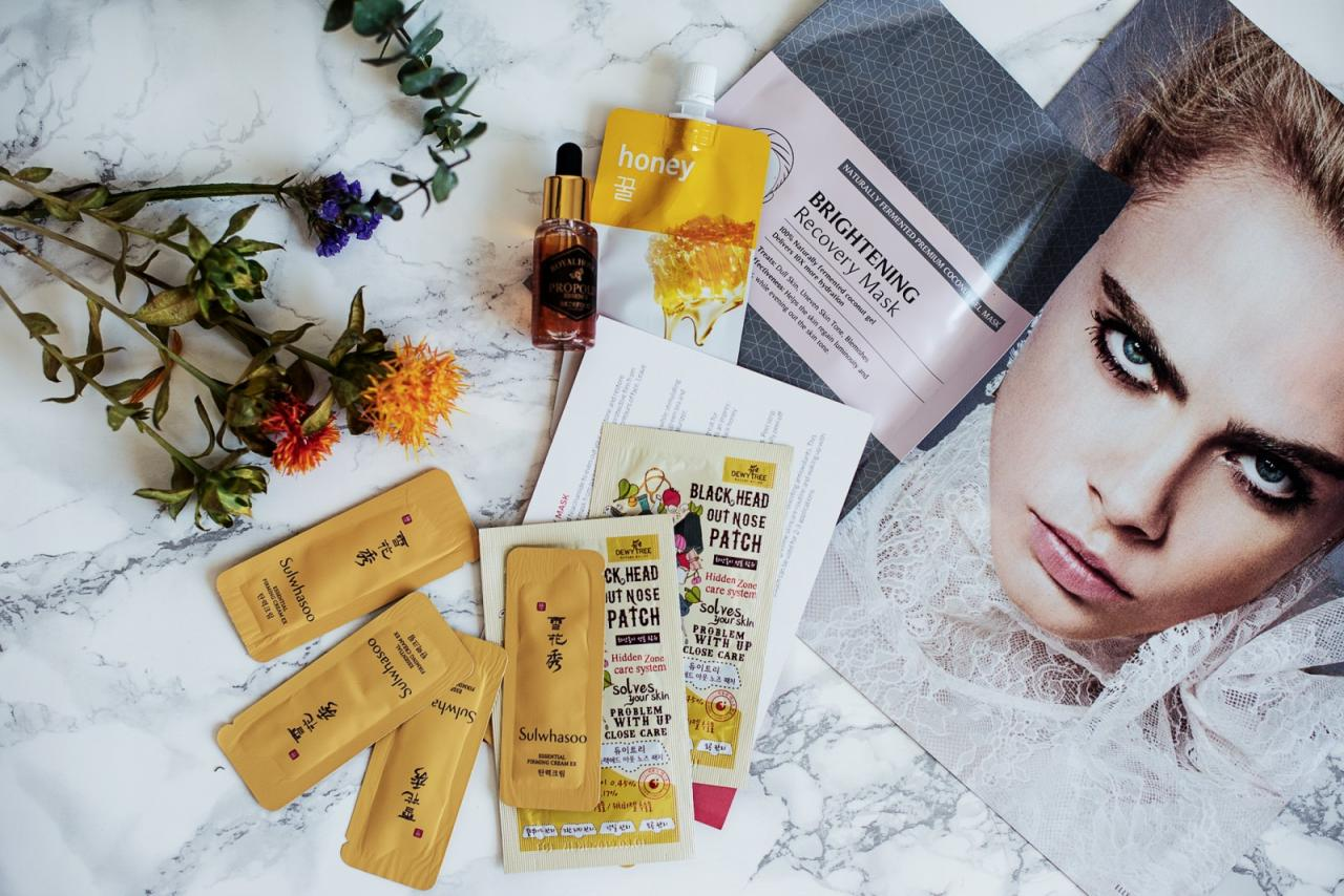 trial korean skincare with 3b box