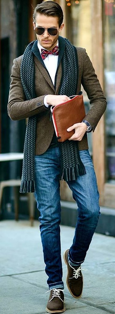 How to Wear Brown Shoes-16 Men Outfits